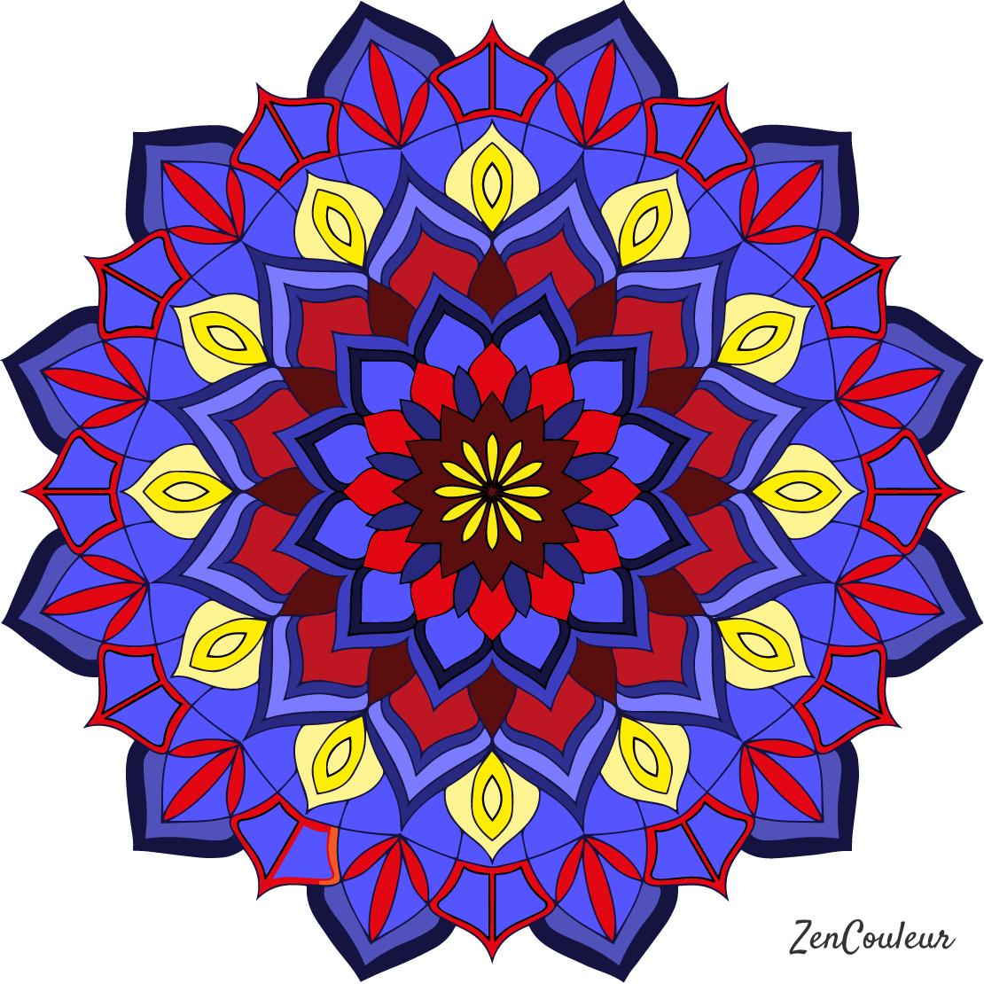 Coloriage Mandala Couleur.Comment Bien Choisir Les Couleurs Pour Son Coloriage Pour Adultes